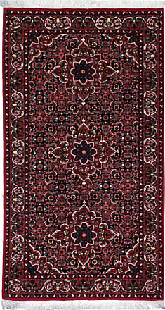 Nain Trading 130x69 Tappeto Bidjar Bukan Corridore Marrone Scuro/Viola (Lana / Seta, Persia/Iran, Annodato a mano)