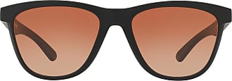 Oakley Womens Sonnenbrille Moonlighter Sunglasses, Matte Black W/Vr50 Brown Gradient, 53