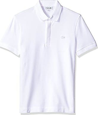 a1fc31004222e Lacoste Mens Short Sleeve Solid Stretch Pique Regular Fit Paris Polo