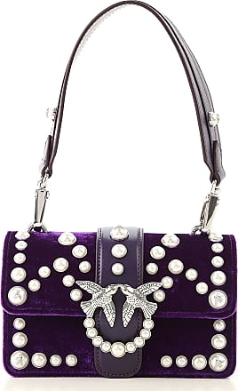 Pinko Shoulder Bag for Women On Sale, Purple, Leather, 2017, one size