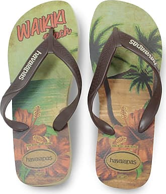 Havaianas Mens HAV Surf Sand Grey/Dark Brown/Beige Sandal, Green (Amazon), 8 Child UK