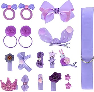 Zhhlaixing Hair Clips Bows 18pcs Gift Set Baby Little Girls Hair Clips Set Hairpins Set Head Ornaments Birthday Gift Childrens Day Gift Rose Purple Zhhlaixing