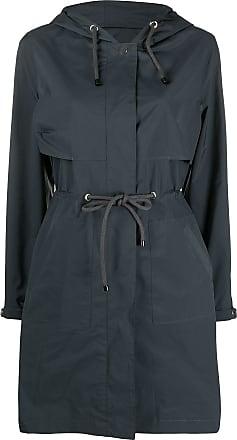 Yves Salomon drawstring waist raincoat - Blue