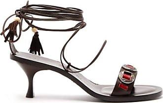 ÁLVARO GONZÁLEZ X Kim Hersov Kasa Leather Sandals - Womens - Dark Brown