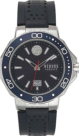 Versace Watch for Men On Sale, Dark Blue, Leather, 2017, One Size