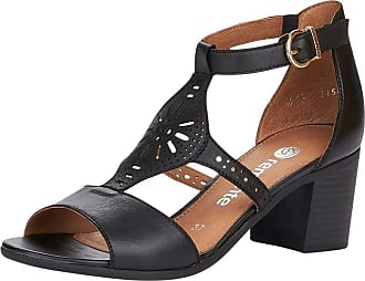 Remonte Women Sandals, Ladies Strappy Sandals,Roman Sandals,Gladiator Sandals,Summer Shoes,Comfortable,Schwarz / 01,40 EU / 6.5 UK