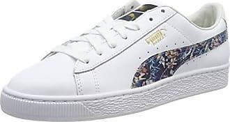 Puma suede classic +', sneaker unisex adulto, blu (peacoat white), 37. 5 eu