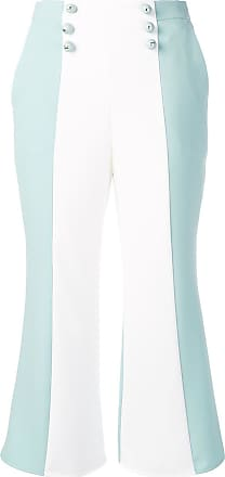 Elisabetta Franchi two-tone copped trousers - Verde