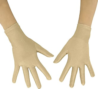 Insun Adult Lycra Spandex Full Finger Stretchy Short Gloves nude