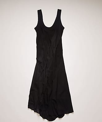 Acne Studios FN-WN-DRES000332 Black Bias-cut patchwork dress