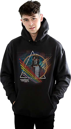 MARVEL Mens Guardians of The Galaxy Neon Star Lord Masked Hoodie XXX-Large Black