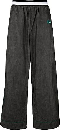 Facetasm Calça ampla com elástico na cintura - Preto