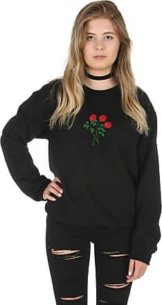 Sanfran Clothing Sanfran - Rose Bunch Flower Summer Fashion Blogger Jumper Sweater - Extra Large/Black