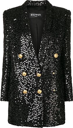 Balmain sequin blazer dress - Black