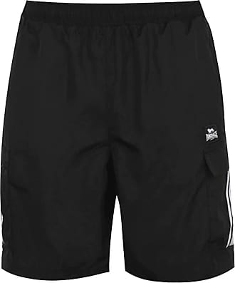 Lonsdale Mens Cargo Shorts Mesh Lining (Black, Extra Large)
