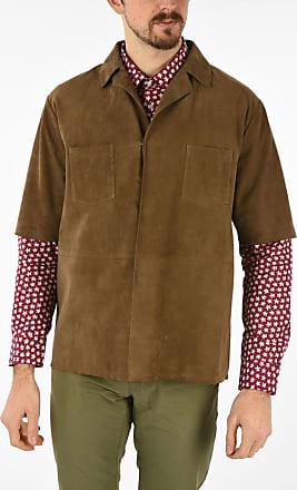 Corneliani CC COLLECTION leather short sleeve blazer size 50