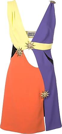 FAUSTO PUGLISI Vestido color block - Roxo