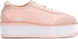 GCDS Fashion Woman OT19W01000106 Pink Leather Sneakers | Spring Summer 20