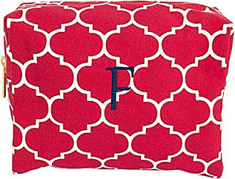 Cathy's Concepts Personalized Moroccan Lattice Cosmetic Bag, Coral, Letter F