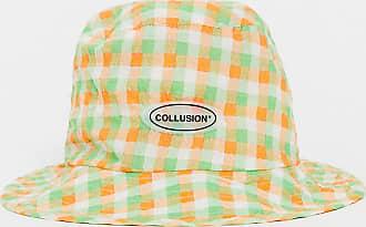 Collusion Cappello da pescatore a quadretti-Multicolore