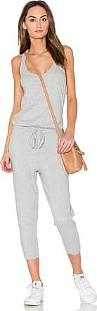 bobi Supreme Jersey Sleeveless Jumpsuit in Grey