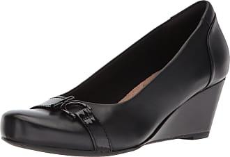 0e40ecacd0ab9 Clarks Womens Flores Poppy Pumps, Black Leather, 7.5 UK (10 US)
