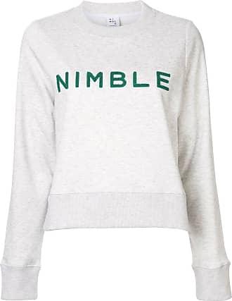 Nimble Activewear logo embroidered sweater - Branco