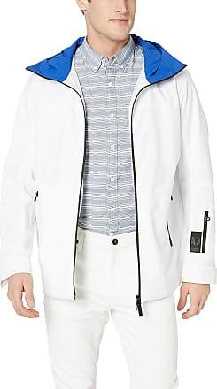 A X Armani Exchange Mens Multi Zip Pocket Coat, Blue (White/Marine 2166), Medium