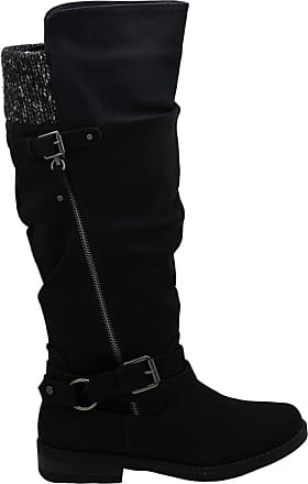 xoxo Xoxo Womens Miles Fabric Closed Toe Knee High Riding Boots, Black, Size 7.0
