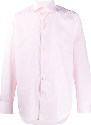 Canali Camisa com acabamento engomado - Rosa