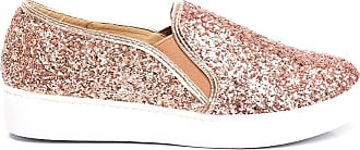 Ikrush Alex Slip On Chunky Glitter Trainers Rose Gold UK 3