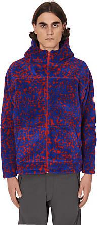 Cav Empt Cav empt Noise fleece zip hooded sweatshirt RED/ BLUE S