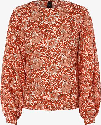 Y.A.S Damen Blusenshirt - YASDamask orange