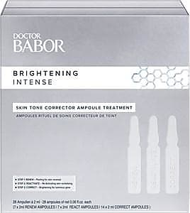 Babor Doctor BABOR Brightening Intense Skin Tone Corrector Ampoule Treatment Renew Ampoules 7 x 2 ml + React Ampoules 7 x 2 ml + Correct Ampoules 14 x 2 ml