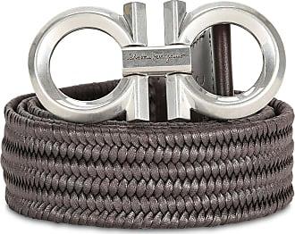 Salvatore Ferragamo Gancini fabric belt