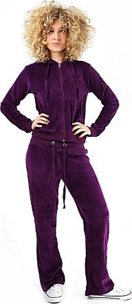 Parsa Fashions Womens Velour Full Tracksuit Hoodie And Jogging Pants Ladies Drawstring Zipper Joggers Sport Gym Normal And Plus Sizes 2 Piece Set (XXXXXX-Large, Purp