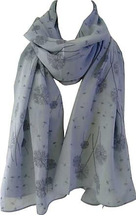 GlamLondon Dandelion Scarf Scatter Dandelions Flower Print Fashion Ladies Womens Classy Big Wrap (Light Blue)