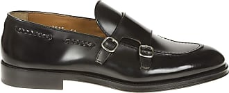 Doucal's Orlando Smooth Leather Monk Straps, 42.5 Black