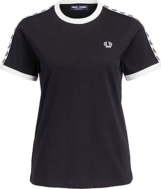 Fred Perry T-Shirt RINGER - SCHWARZ