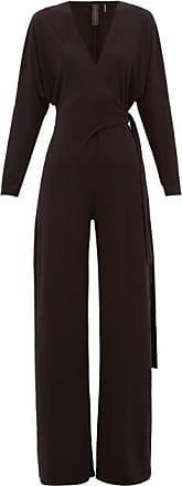 Norma Kamali Wrap-front Jersey Jumpsuit - Womens - Black