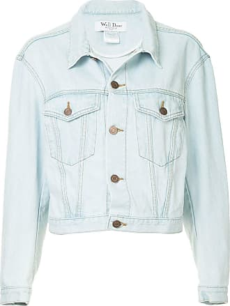 We11done buttoned denim jacket - Blue