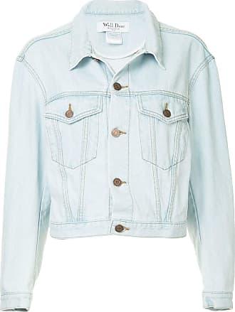We11done Jaqueta jeans com botões - Azul