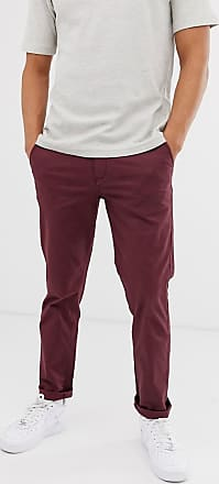 pantalon chino rouge élégant