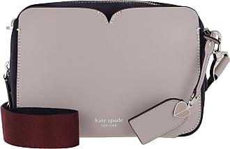 Kate Spade New York Candid Suede Medium Camera Bag True Taupe Umhängetasche grau