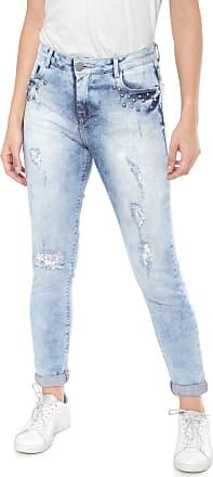 835b219b4bc Malwee Calça Jeans Malwee Skinny Aplicações Azul