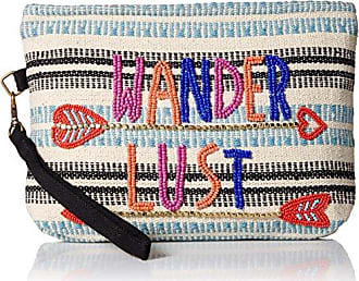 ále by Alessandra Womens Wanderlust Beaded Clutch with Detachable Strap, multi/color, One Size