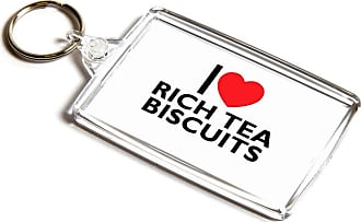 ILoveGifts KEYRING - I Love Rich Tea Biscuits - Novelty Food & Drink Gift