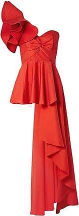 Johanna Ortiz Johanna Ortiz Woman Paso Doble One-shoulder Ruffled Cotton-blend Poplin Top Red Size 0