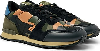 Valentino Valentino Garavani Rockrunner Camouflage-print Canvas, Leather And Suede Sneakers - Multi