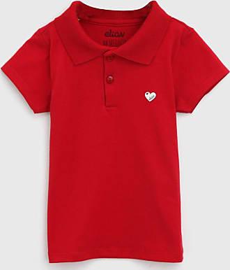 Elian Camisa Polo Elian Infantil Lisa Vermelha